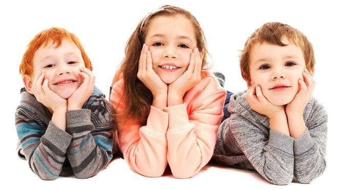 Smiling 3 kids